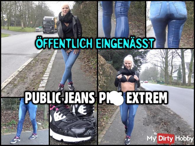 ÖFFENTLICH EINGENÄSST | Public Jeans pi** extrem