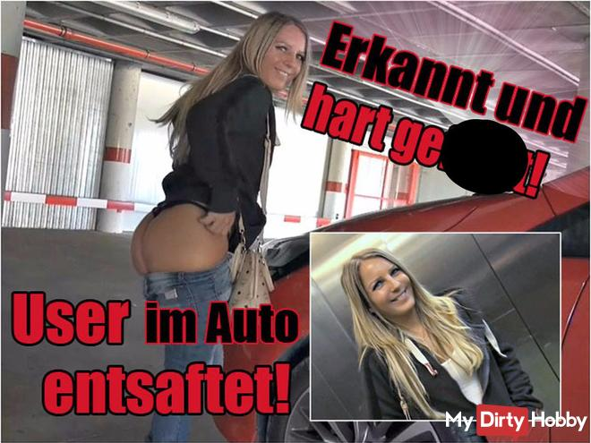 Erkannt & hart gefi**t! User im Auto entsa*tet!