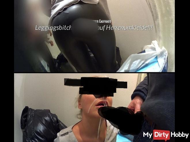 Leggingsbitch schl**kt auf Herrenumkleide!!!