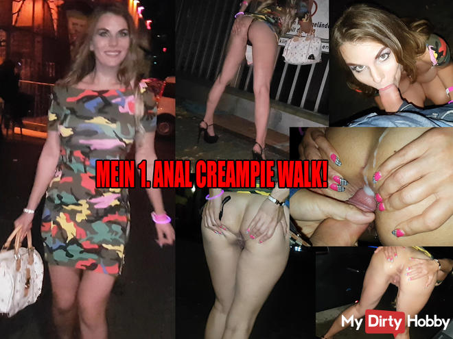 Anal creampie Walk after Pornoparty