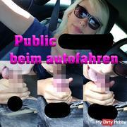 Public Car bl*wjob - Beim autofahren feucht gebla*en