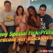Teeny Fick special exam! Hardcore 4p Black & White !!!