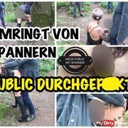 Umringt von Spannern public durchgefi**t