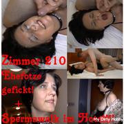 Room 210 Ehefotze fucked! + Spermawalk at the hotel !!!