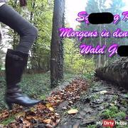 Morgens in den kalten Wald gepi**t