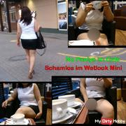 No Pantys im Cafe - sc**mlos im Wetlook Mini und harte Nippel