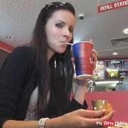 Model in Fast Food Shop fucked