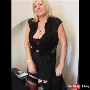 sexy secretary striptease