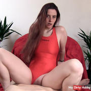 Hot Fuck in my red swimsuit