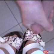 Nylon feet in slippers (insemination)