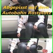 Public PISSEN at highway rest stop