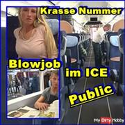 Blatant number! Blowjob in ICE train Public