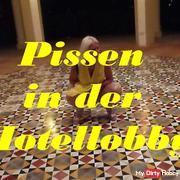 Pissing in the hotel lobby