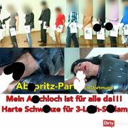 Abspri**-Party in Dortmund. 10 dicke schwä**e für die Latex-Schlampe