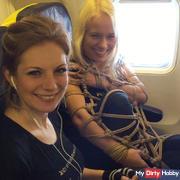 Bondage in Public - Airplane