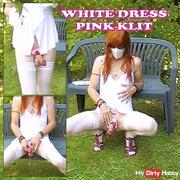 White dress - pink klit