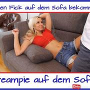 Creampie on the couch ...