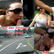 On the streets of Zurich sucked while driving! Without mask!