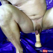 by spraying fucked in the ass