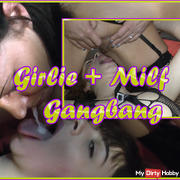 Girlie + Milf Dacada Gang Bang ...