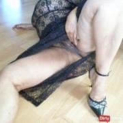 Hairy pussy in horny underwear