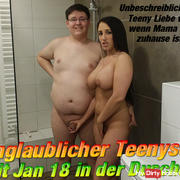 Incredible Teenysex Jan 18 in the shower!