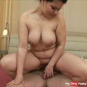 A new girl came to us for casting, huge breasts, with her good fuck