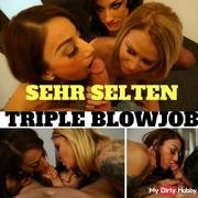 VERY RARE TRIPLE BLOWJOB