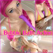 BATHTUB DILDO FUCK - MUCH FOAM & ORGASMUS FACE