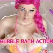 BATHTUB dil*o fu*k - EXTRA VIEL SCHAUM & ORGASMUS FACE