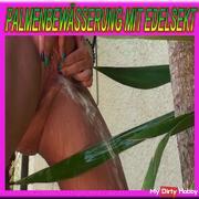 Palm watering with precious silk