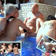 Pool-s*x-Party! 2 Girls vs. 4 Männer