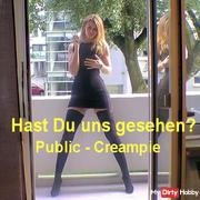 Have you seen us Public - Creampie Fick on the balcony