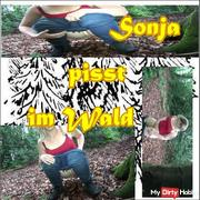 Sonia pisses in the forest