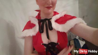 Miss Santa shows up