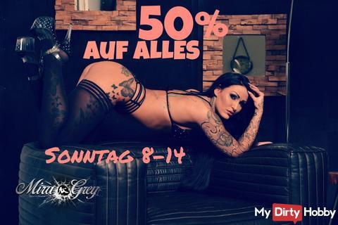 50% AUF ALLES