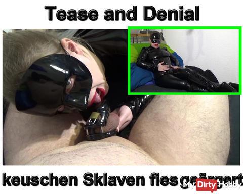 Neues Video: Tease and Denial keuschen Sklaven fies geärgert!