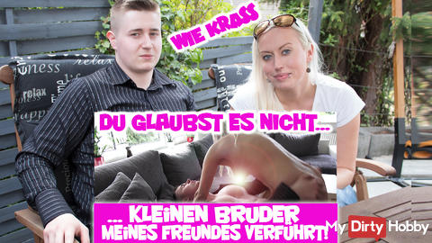 NEW CLIP - Krass !! Little brother of my friend seduced!