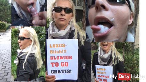 Gratis Straßenblowjob mal anders!!! Luxus-Bitch! Blowjob TO GO! Gratis!!!!! starten?