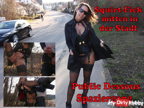 Public Squirt fuck in the city | Lingerie Walk