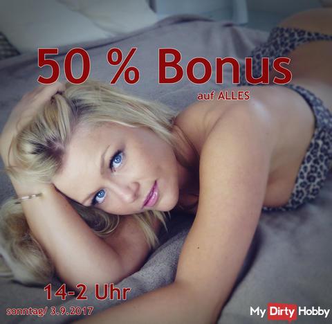 Bonus 50 %