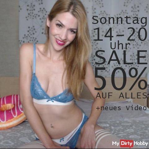 Sonntags-Sale! 50% Rabatt und neues Video!