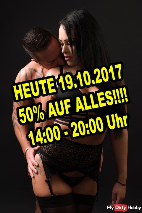 Heute 19.10.2017 50% AUF ALLES!!!!!!!!!!