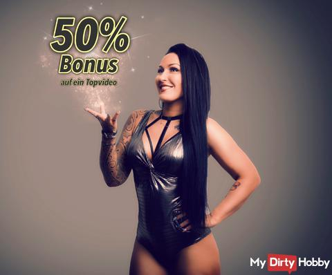 50% Bonus on a Top Video - Today All Day!
