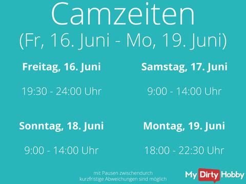 My Camtimes from Fr., 16. June till Mo., 19. June