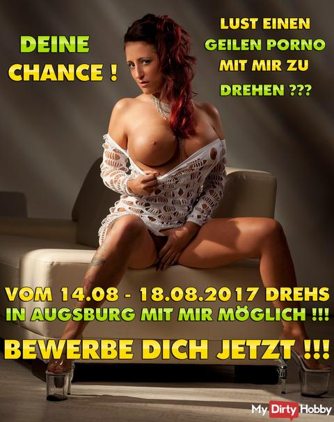 DREHPARTNER FOR AUGSBURG WANTED! 14.08 - 18.08.2017 !!! APPLY NOW! I LIKE YOU KNOWING ME ON YOUR KNUTSCH *