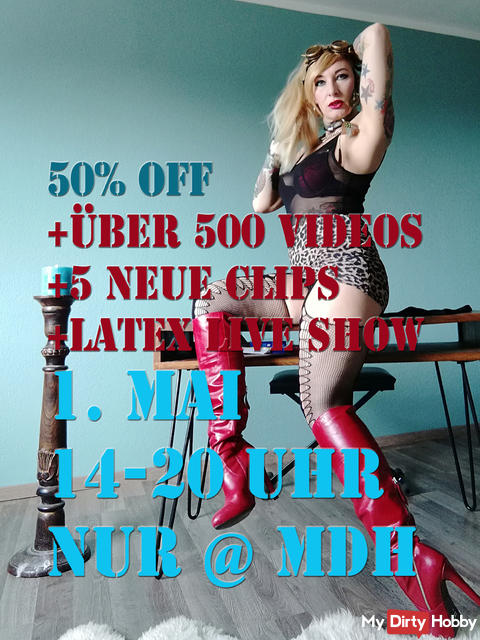 Safe the date! 1st May 50% OFF