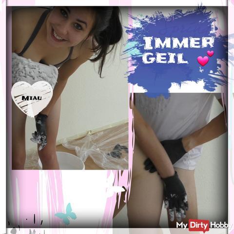 Jenny am streichen :)