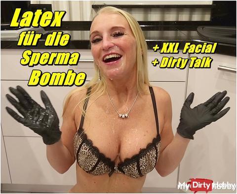 Latex für die Sperma Bombe - XXL Facial --- der neue Clip von mir, ab jetzt online
