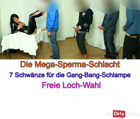"""NEUES VIDEO ONLINE """"Die Mega-Sperma-Schlacht XXL. 7 harte Schwänze in Spritzlaune"""""""